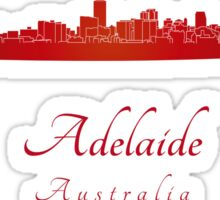 Adelaide skyline in red Sticker