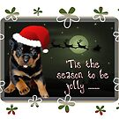 'Tis The Season To Be Jolly Holiday Greetings by taiche