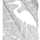 Negative Space Heron by Bernadette Crotty