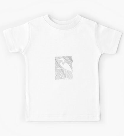 Negative Space Heron Kids Tee