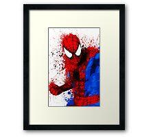 Web-Head - Splatter Art Framed Print