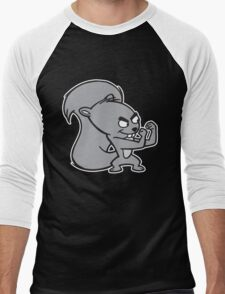 Fighting Squirrel Men's Baseball ¾ T-Shirt