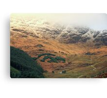 Rest and Be Thankful Scottish Landscape Canvas Print