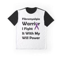 Fibromyalgia Purple Ribbon: Will Power Graphic T-Shirt