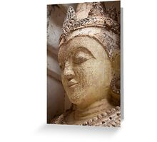 Buddha Statue - Bagan Greeting Card