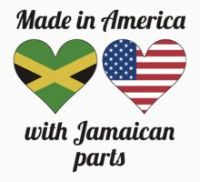 Made In America With Jamaican Parts Kids Tee