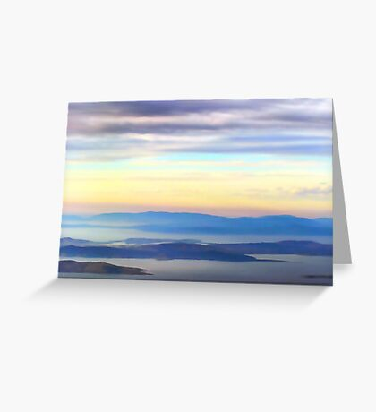View from Mt Wellington Greeting Card
