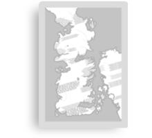 Westeros Map Canvas Print