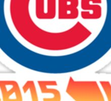 Chicago Cubs World Series Back to the Future Sticker