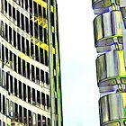 Willis Group and Lloyd's of London Abstract Art by DavidHornchurch