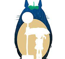 Rain Totoro by EvanMabe
