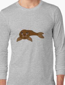 Brown Baby Seal Long Sleeve T-Shirt