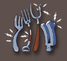 Four types of fork in pain by Bleee