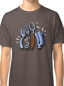 Four types of fork in pain Classic T-Shirt
