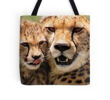 Cheetah & Cub  Tote Bag
