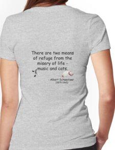 Music and Japanese Cat Art Quote T-Shirt T-Shirt