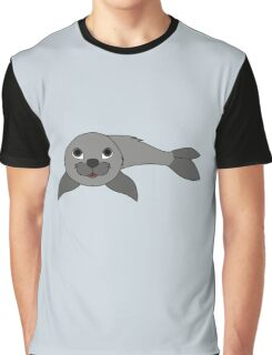Gray Baby Seal Graphic T-Shirt