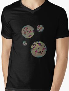 Retro Honey Comb Circles # 2 Mens V-Neck T-Shirt