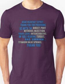jesse says grace: car part thanks - version 2 - blue Unisex T-Shirt