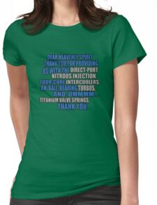 jesse says grace: car part thanks - version 2 - blue Womens Fitted T-Shirt