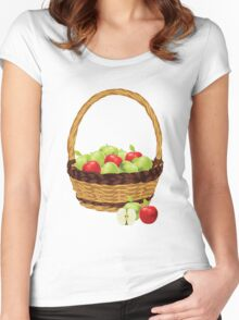 Red and Green apples Women's Fitted Scoop T-Shirt