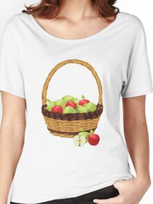 Red and Green apples Women's Relaxed Fit T-Shirt