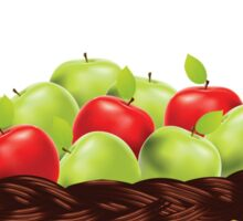 Red and Green apples Sticker