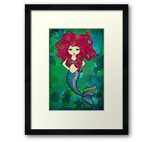 Mermaids have bad hair days, too. Framed Print
