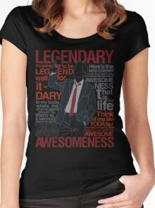 Barney Stinson - Legendary T-shirt of Awesomeness Women's Fitted Scoop T-Shirt