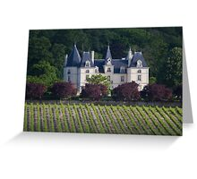French castle in vineyards Greeting Card