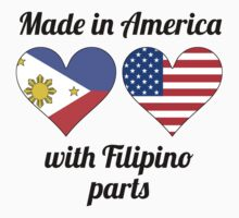 Made In America With Filipino Parts Kids Tee