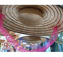 Hat with pink ribbon, Hanoi, Vietnam 2012 Photographic Print