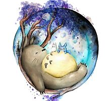 totoro sleeping by EvanMabe