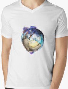 totoro sleeping Mens V-Neck T-Shirt