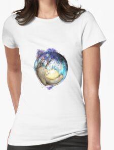 totoro sleeping Womens Fitted T-Shirt