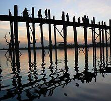 The Teak bridge, Myanmar 2012 by Intrepidjoan