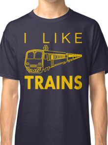 I like trains Classic T-Shirt