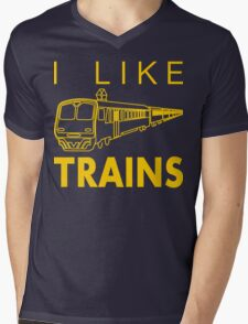 I like trains Mens V-Neck T-Shirt