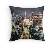 Night-Scape Throw Pillow