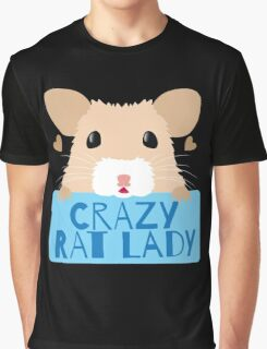 CUTE crazy rat lady (in cream colour) Graphic T-Shirt