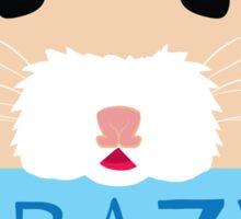 CUTE crazy rat lady (in cream colour) Sticker
