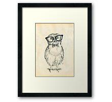 Nerdy Owlet Framed Print