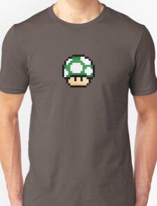 Pixel Mario Mushroom Green 1up Unisex T-Shirt