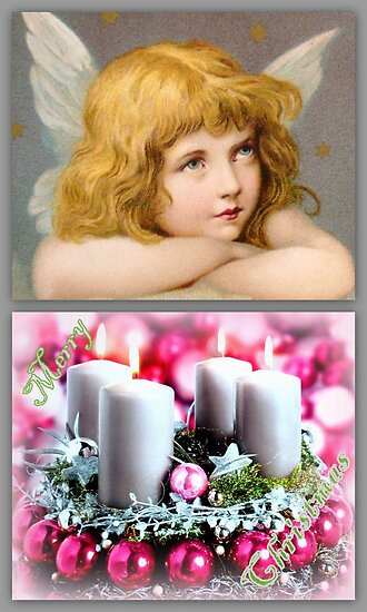 Angel with candles by The Creative Minds