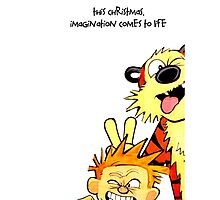 calvin and hobbes cristmast Photographic Print