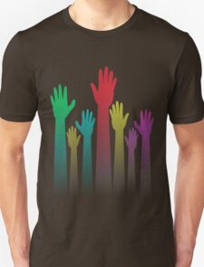 Colorful Raised Hands T-Shirt