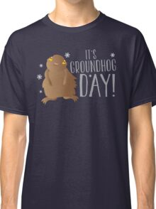 It's GROUNDHOG DAY! with cute little groundhog and snowflakes Classic T-Shirt