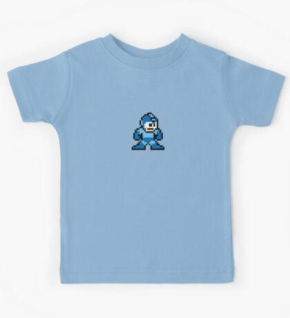 Pixel Megaman Standing Kids Tee