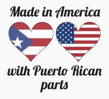 Made In America With Puerto Rican Parts One Piece - Short Sleeve