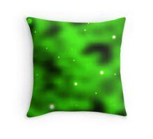 The Green Nebula Throw Pillow
